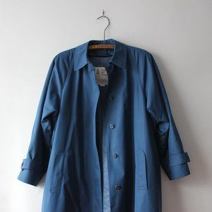 Vintage London Fog Blue Trench Coat